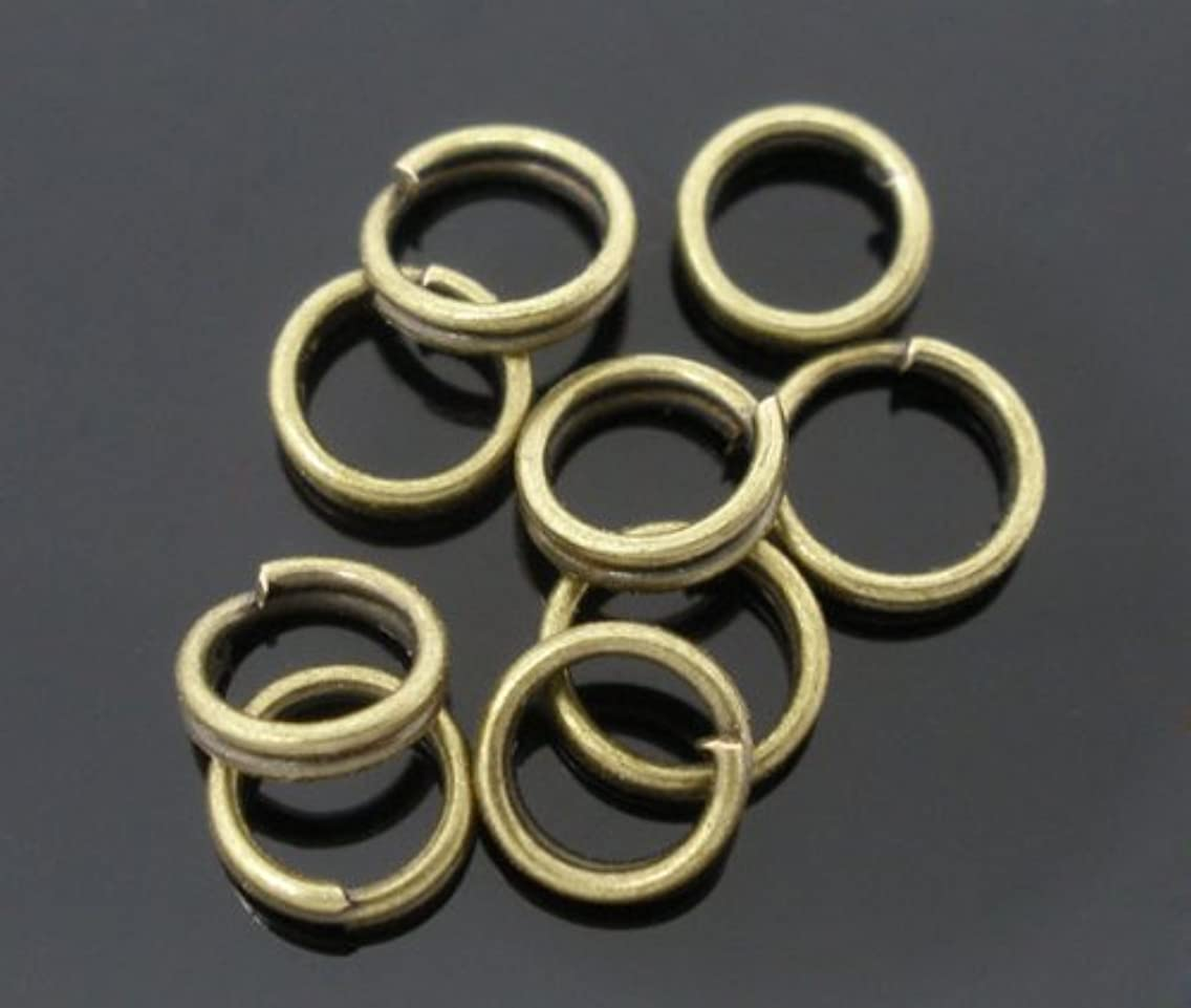 PEPPERLONELY Brand 1000PC Antiqued Bronze Split Rings 5mm
