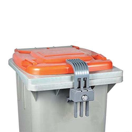 Conpotech Co.,Ltd Garbage Lock Trash can lid Lock Garbage can Security bin Lock, Lock Device Used for Waste Bins, Prevents Illegal Disposal of Food Waste & Offers Protection from Animals and Insects.