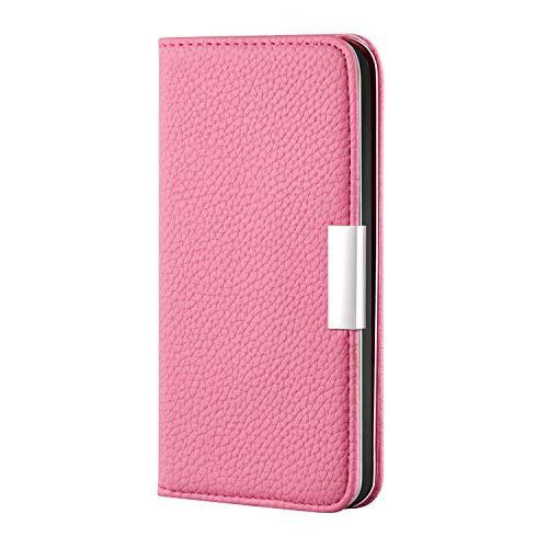 Lomogo Huawei Honor 20Pro Hülle Leder, Schutzhülle Brieftasche mit Kartenfach Klappbar Magnetisch Stoßfest Handyhülle Case für Huawei Honor 20 Pro - LORXU020291 Rosa