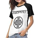Photo de Yuanmeiju Ektomorf T-shirt de baseball à manches courtes et col rond pour femme - Noir - XXL