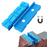 5.5' Vise Jaws Nylon Vise Block with Magnetic Soft Jaws for Gunsmithing, Woodworking, Jewelry Making, Plumbing