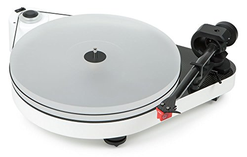 Pro-Ject RPM 5 Carbon, audiophiler Plattenspieler mit Riemenantrieb und Acrylplattenteller (inkl. Ortofon MC Quintet Red, Weiß)