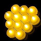 SHINE 24 Velas parpadeantes Funciona con Pilas, Parpadea como una Vela Real, Funciona con Pilas, Velas sin Llama, Vela de té de Boda, Dos docenas de batería de Larga duración