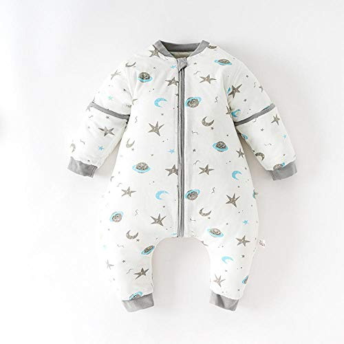 B/H Newborn Sleeping bag,Sleeping bag with split legs for babies, double-layer fabric in spring and summer, thin quilted in autumn and winter-B_cotton_90cm