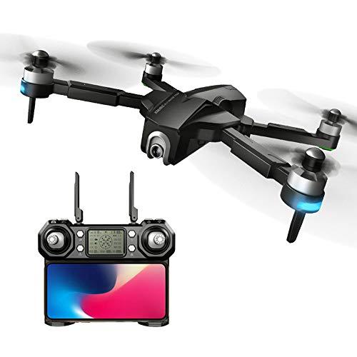 XMR / C M8 5G WIFI GPS FPV Faltbare Drohne mit 4K Weitwinkel Kamera RC Quadrocopter,VR Model ,Kopfloser Modus,Follow Me,Bürstenloser Motor, 3000 mAh Akku,RTF Mit Optischer Flow Positioning (Black)