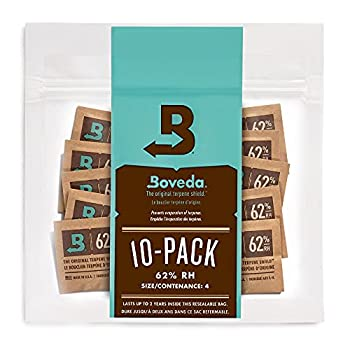 Boveda 62% RH 2-Way Humidity Control   Size 4 in 10-Count Resealable Bag