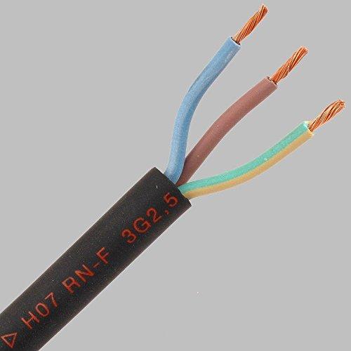 Gummileitung H07RN-F 3G1,5 3x1,5 qmm Gummikabel Industriequalität 50m Baustellenkabel Schlauchleitung