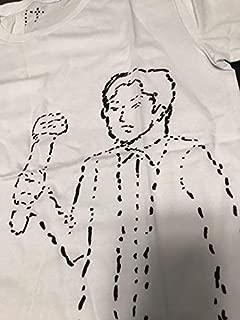 福山雅治 &バズリズムコラボ点線で描かれた福山 Tシャツ