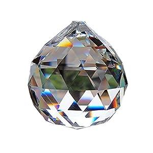 Yoker 40 mm Clear Crystal Ball Prisms Pendant Feng Shui Suncatcher Decorating Hanging Faceted Prism Balls