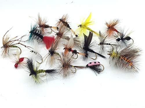 Mosca Seca Pesca Moscas Mejor UK x 40 Trucha Rod Fly Cuarenta...