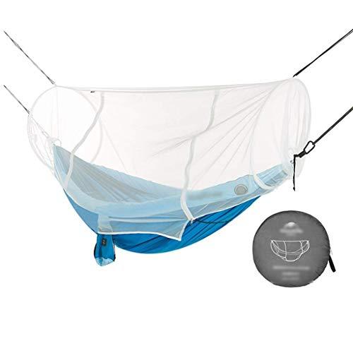Hamacs, Meubles de Camping Anti-Moustique extérieur adapté à Plusieurs scènes Double Charge Anti-Moustique et Anti-Insecte 150 kg (Couleur: Bleu, Taille: 240 * 173 cm) Confortable