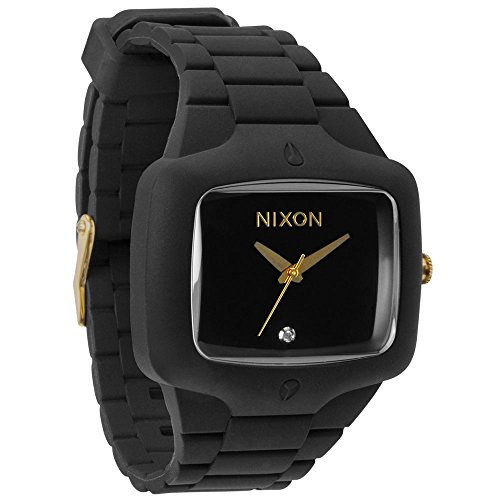 Big Sale Nixon Rubber Player Watch - Men's ( Black/Gold ) [Watch] Nixon