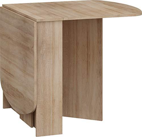 BIM Furniture HOMI Mini 2 - Tavolo allungabile da cucina, 150 x 80 x 75 cm, ovale, colore: rovere Sonoma