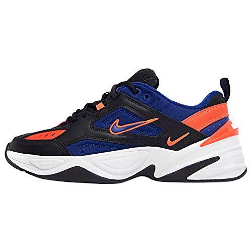 Nike Men's M2K TEKNO Running Shoes (Black/Deep Royal Blue, 9.5)