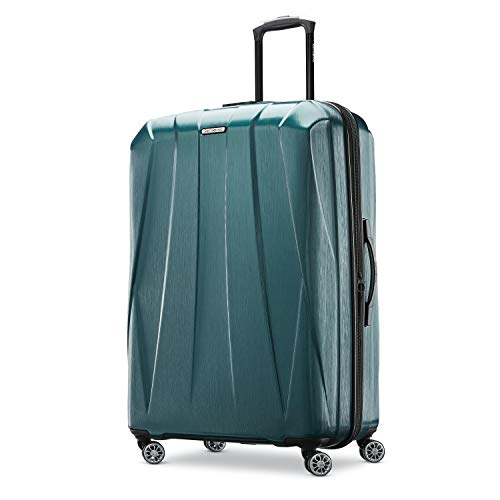 Samsonite Centric 2 Hardside Expandable Luggage with Spinner Wheels, Emerald Green, Checked-Large 28-Inch