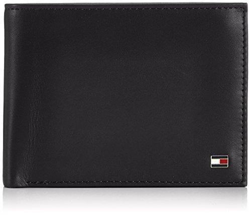 Tommy Hilfiger Herren ETON CC FLAP AND COIN POCKET Geldbörsen, Schwarz (BLACK 990), 13x10x2 cm