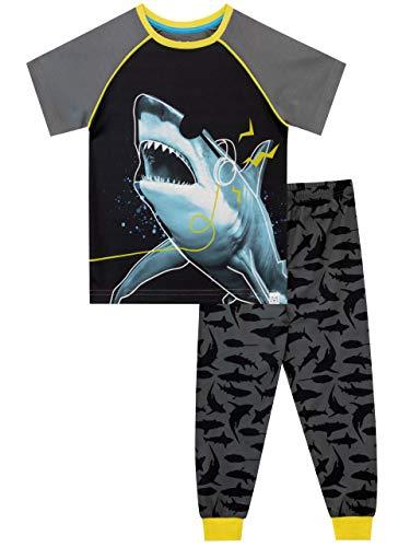 Harry Bear Pijamas de Manga Larga para niños Tiburón Gris 5-6 Años