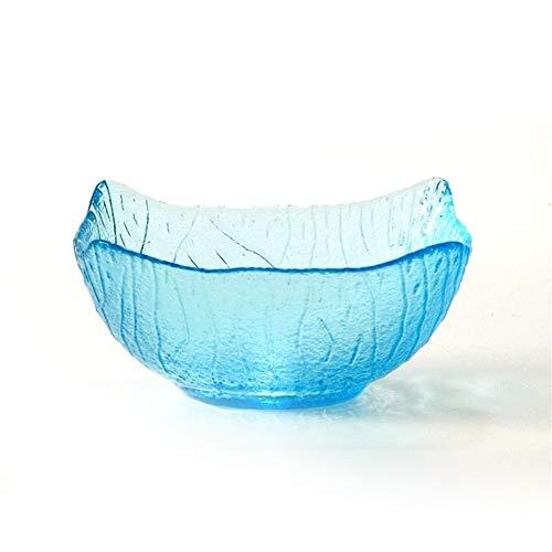 Copas para Helado Hogar Ensaladera De Vidrio De Color, Un Tazón De Platos De Helado De Personalidad De Colores Primarios (Color : Blue)