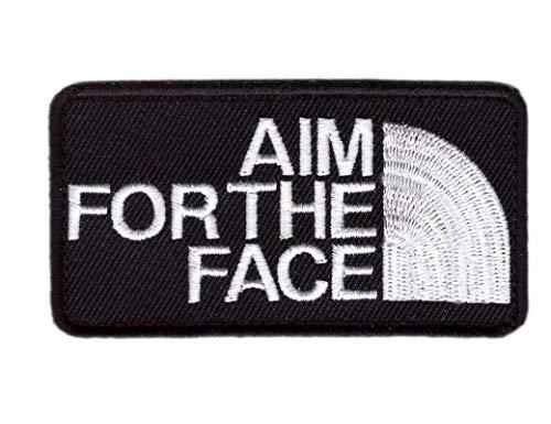 Titan One Europe - Aim For The Face Patch Parche Decorativo Bordado Termoadhesivo
