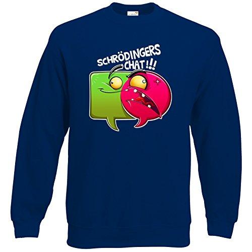 getshirts - Gronkh Official Merchandising - Sweatshirt - Schroedingers Chat - Marine L