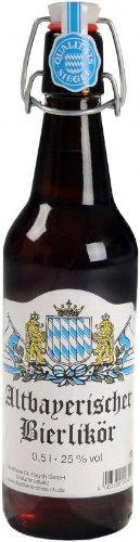 Altbayrischer Bierlikör 0,5 l | traditioneller bayerischer Likör auf Bockbier-Basis in der Bügelverschluss-Flasche | Spirituose der Destillerie Dr. Rauch inc. 0.15€ MEHRWEG Pfand
