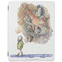 UDDesign ため 動物 動物園 iPad 8 ケース 第8世代 iPad 10.2 ケース 第7世代 2019モデル 兼用 ケース スタンド機能 軽量 薄型 三つ折タイプ 全面保護型
