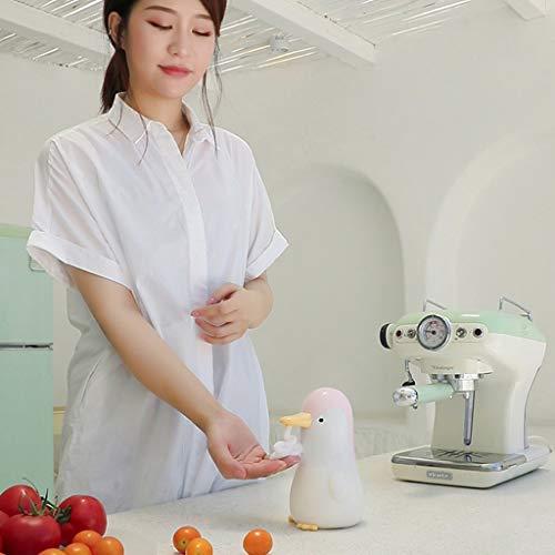 Xzbnwuviei Penguin Home Intelligenter Induktionsschaum-Seifenspender, süßer Pinguin, automatischer Seifenspender, berührungsloser Induktionsschaum, Waschmaschine für Kinder, Küche, Badezimmer