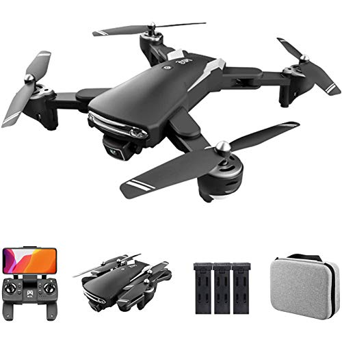 MRSDBTL GPS Drone with Dual Camera, 6K HD 5G WiFi FPV Drone for Adults, Optical Flow Positioning RC Quadcopter with Headless Mode, Follow Me, Auto Return,3 Batteries
