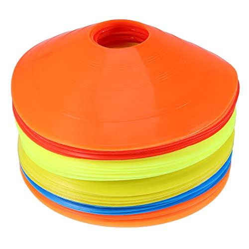 Garneck 50 Unidades de Conos de Disco de Fútbol Conos de Fútbol Conos de Fútbol para Entrenamiento Conos Redondos Equipos Deportivos para Entrenamiento de Fútbol para Niños Marcas de Cono