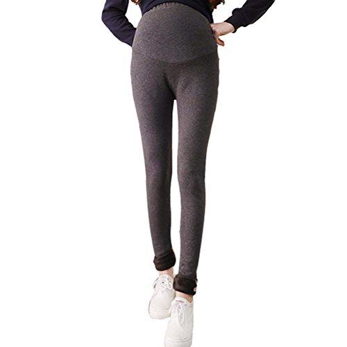 Zhhlinyuan Winter Cotton Warm Velvet Thick Slim Maternité Trouser Pregnant Pants Hot