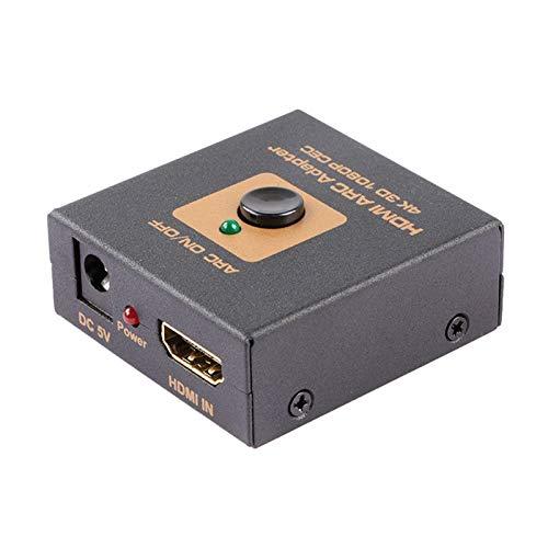 Vaorwne Convertidor de Adaptador de Arco Convertidor de Audio una y óptico 4K 3D 1080P