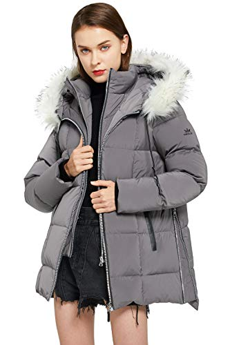 Orolay Women's Thickened Winter Bubble Down Coat Inner Vest Hooded Puffer Jacket Nine Iron L