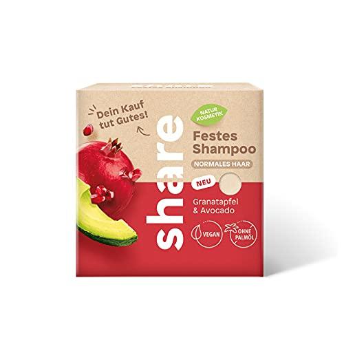 share festes Shampoo Granatapfel & Avocado, vegan, ohne Mikroplastik, 60 g