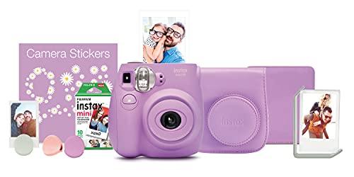 Fujifilm Conjunto de câmera instantânea Instax Mini 7s - Lavanda
