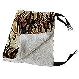 GODGETS Gatito Gato Mascota Hurón Lunares Cama Colgante Hamaca Cálida Fleece Soft Basket Pad Cradle,Tiger,35 * 35CM