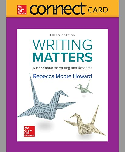 Connect Composition Access Card for Writing Matters 3e TABBED