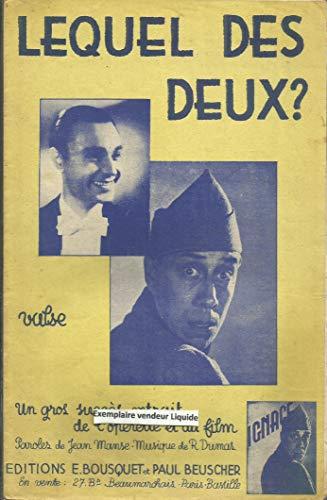 Lequel des deux ? - Extrait opérette et du Film Ignace - Fernandel