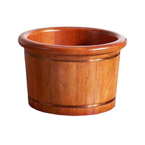 NUB Schlaf verbessert Holz Foot Spa Bucket Fußwaschung Barrel Pediküre Fuß Wanne Fuß Sauna-Zubehör, Fußpflege, Detox Massage Fuß waschen 26CM hoch