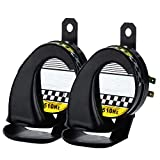 Dicrey Universal Car Horn 12V Vehicle of Motorcycle Truck Boat Kit for Trucks 150 db Electric Loud Snail Air Horn Siren Waterproof 2PCS