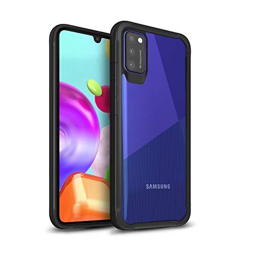 ChargeTie Survival Samsung Galaxy A41 Hülle Transparent Schutzhülle Dünn Kratzfest Durchsichtig (Schwarz)