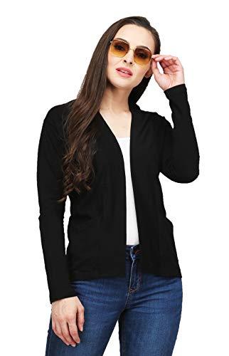 Leotude Black Shrug for Women (Black, Large)
