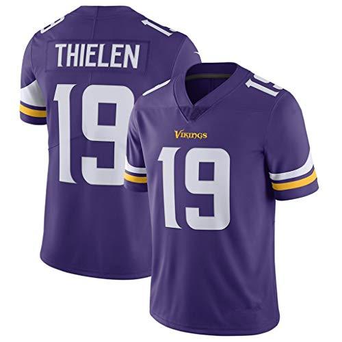 cjbaok NFL Minnesota Vikings Football Trikot 19# Elite Edition Trikot Kurzarm Top Stickerei Fans Version Fan T-Shirts,Purple,L