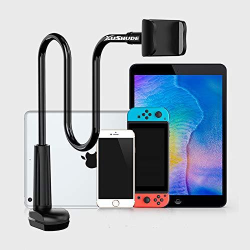Supporto per Cellulare, Cellulare Supporto a Collo di Cigno Supporto universale per iPhone Smartphone Cellulare Tablet 360 Gradi Rotazione (Supporto per Telefono|Black)
