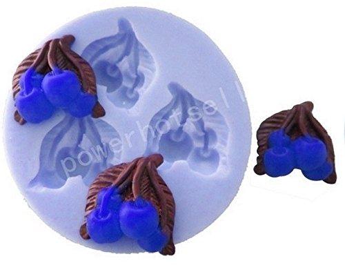 Siliconen mal voor het gebruik van 3 kersen - suikerpasta - fondants - cakes - pannenkoeken - muffins - decoraties