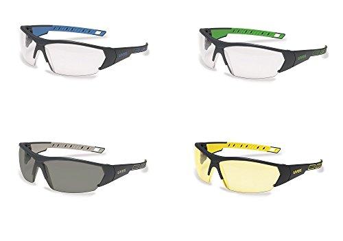 uvex i-Works Schutzbrille – Kratzfeste & Beschlagfreie Arbeitsbrille – 100% UV-400-Schutz – Schwarz/Getönt - 6