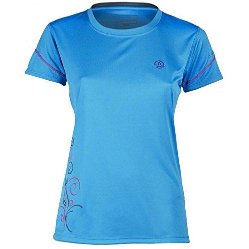 Ternua Blackball Camiseta, Mujer, Azul / Gris Claro, L