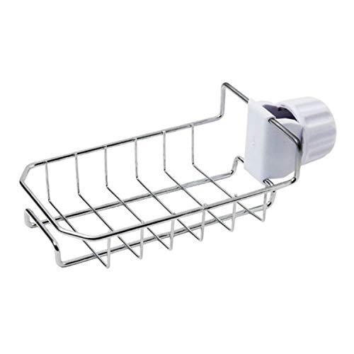 XGQ 2 soportes de almacenamiento colgantes para fregadero, esponja y lavavajillas (plata) (color: plata)
