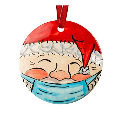 Decoración de Navidad, de madera de madera de Navidad, decoración del árbol de Navidad del viejo hombre de la máscara colgante de manualidades