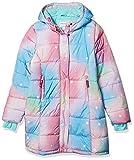 Amazon Essentials Long Heavy-Weight Hooded Puffer Jackets Sudadera con Capucha, Rosa, Degradado/Estrellas, 6-7 años