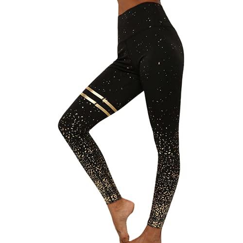 QTJY Pantalones de Yoga elásticos para Mujer de Moda Pantalones de chándal de Abdomen de Cintura Alta Flexiones de Entrenamiento Pantalones de chándal de Celulitis D M